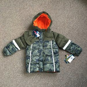 IXtreme Little boy's Puffer Jacket with hat set
